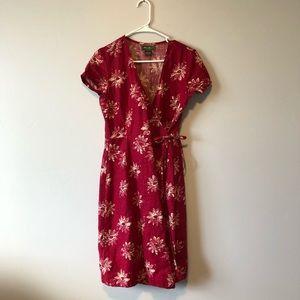 Eddie Bauer linen wrap dress